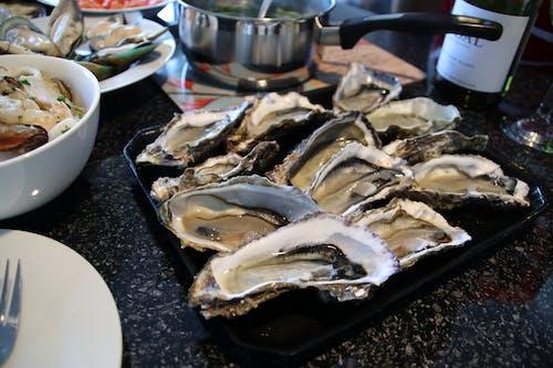 Základová fotografie zdarma na téma jídlo, lahodný, plody moře, ústřice