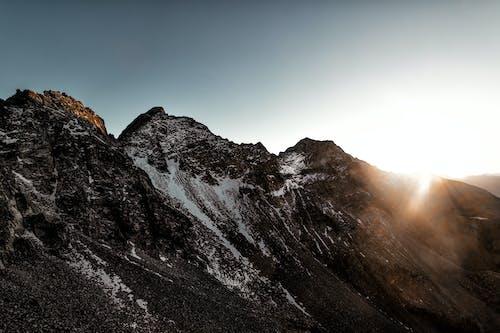Kostenloses Stock Foto zu berge, berggipfel, dämmerung, eis