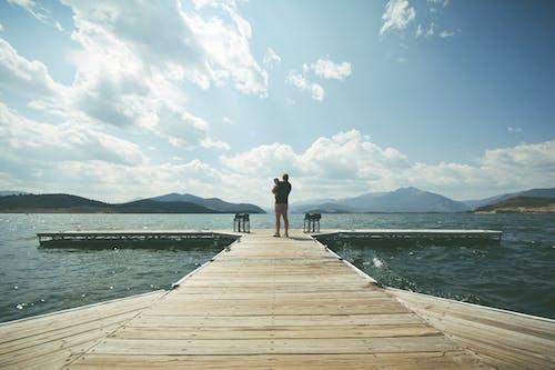 Photos gratuites de chaîne de montagnes, ciel, détente, eau