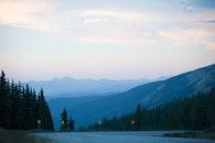 road, dawn, landscape