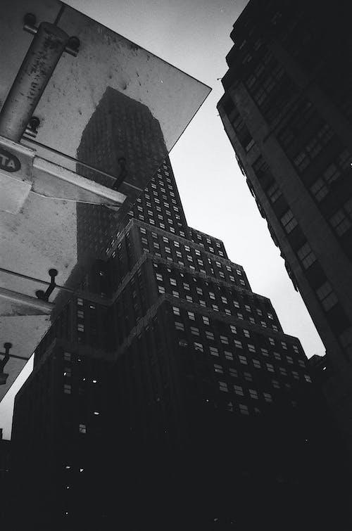 Free stock photo of analog, analog camera, architecture, black and white