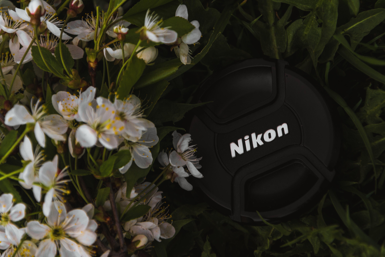 Black Nikon Camera Cap