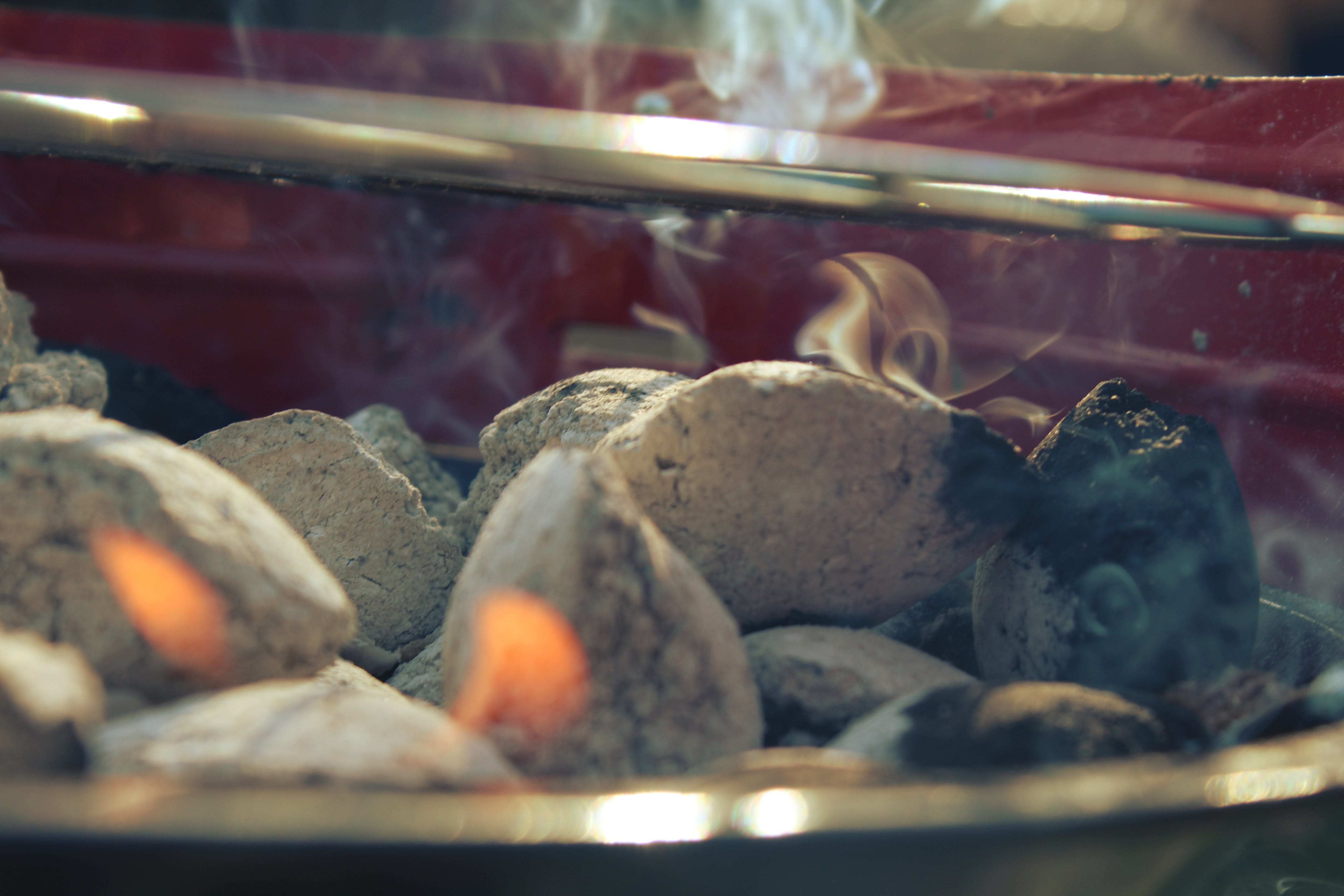 Kostenloses Stock Foto zu feuer, grill, holzkohle