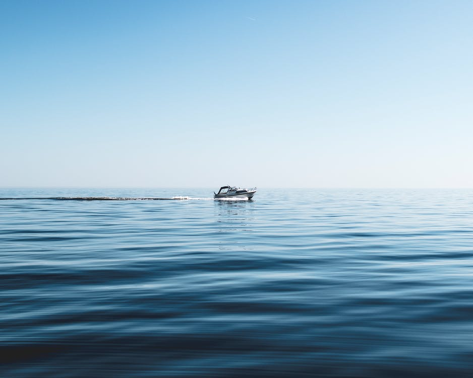 White Boat on Sea