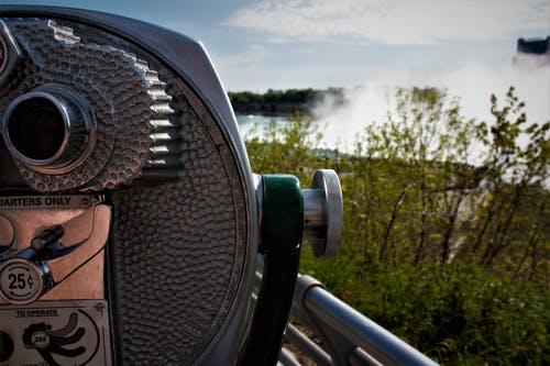 Silver Coin Operated Binoculars
