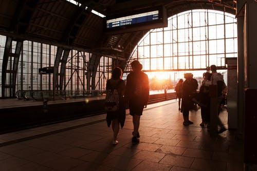 Free stock photo of berlin, couple, sunset, train station