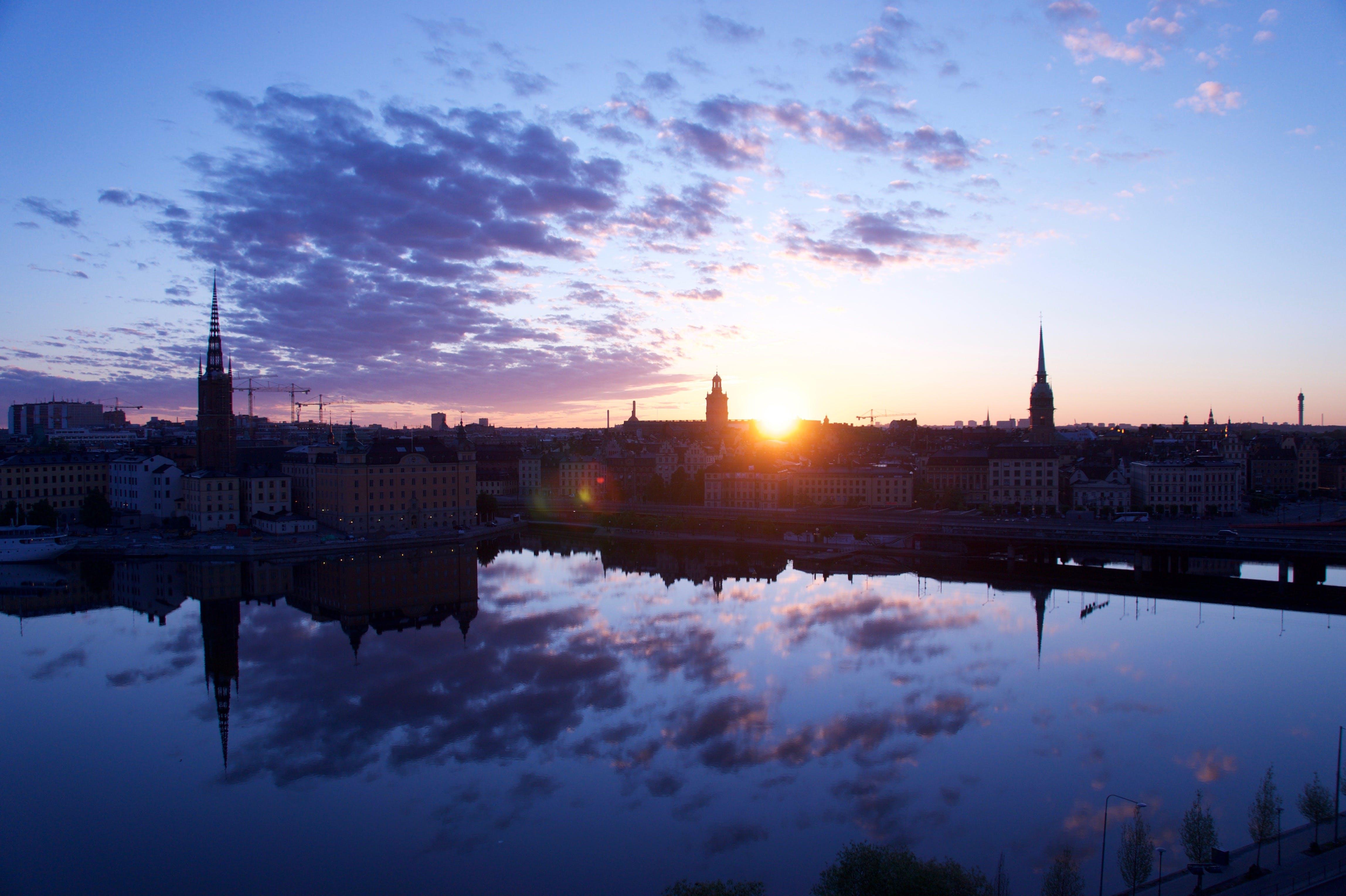 Free stock photo of stockholm, sunrise