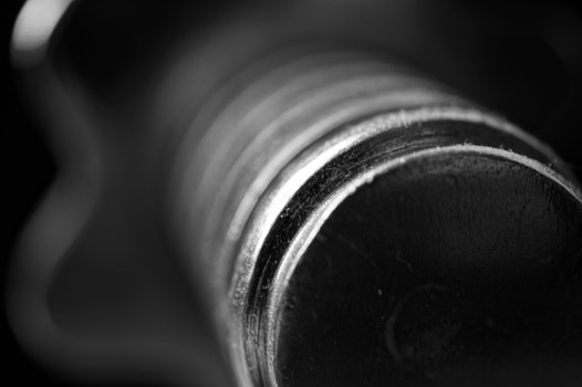Free stock photo of macro photography, Dumb-bell Black and white