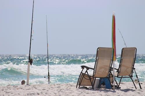 Kostenloses Stock Foto zu angeln, möbel, ozean, sonnig