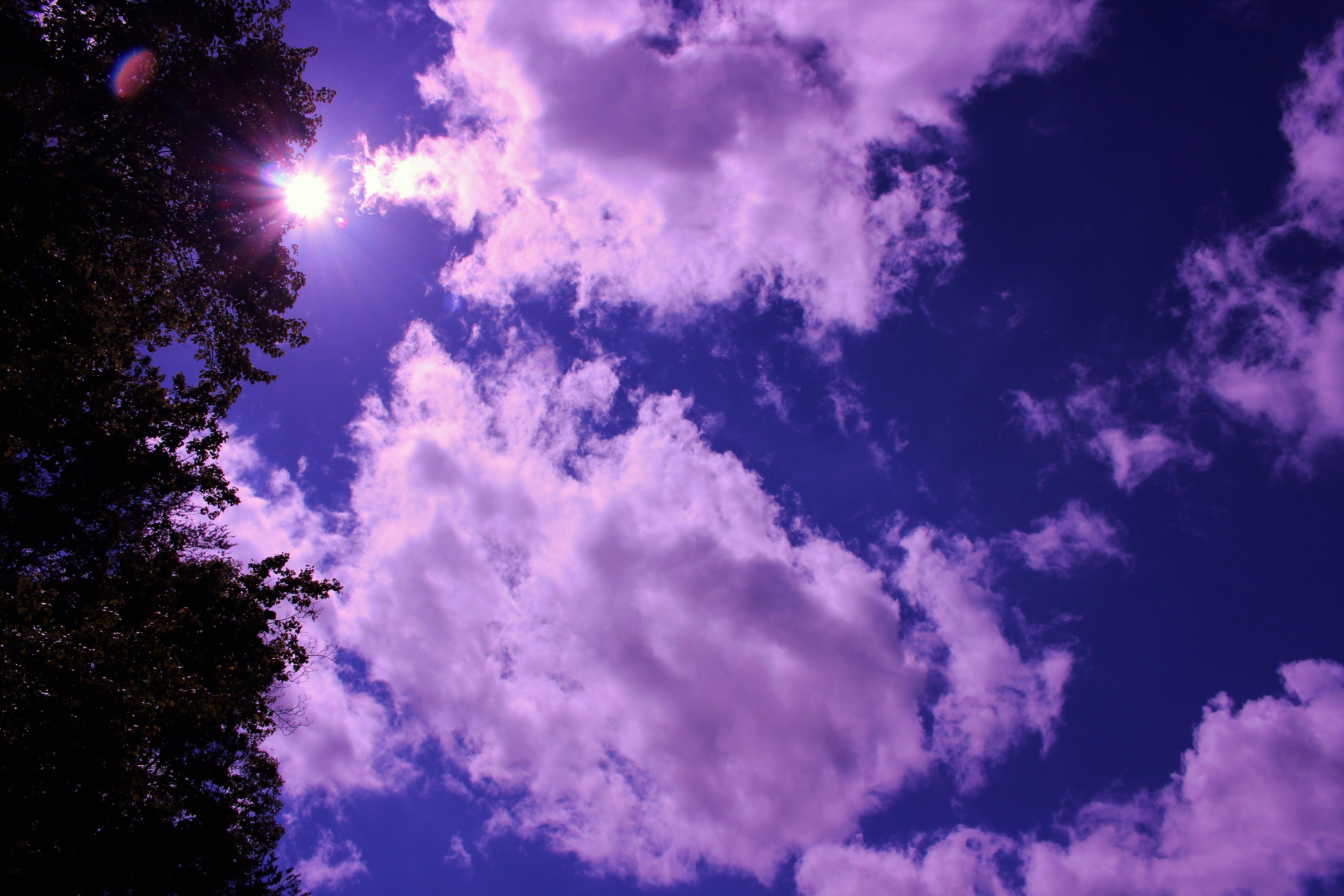 Kostenloses Stock Foto zu blauer himmel, fackel, himmel, lens flare