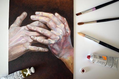 Immagine gratuita di arte, dipingendo, mani, opera d'arte