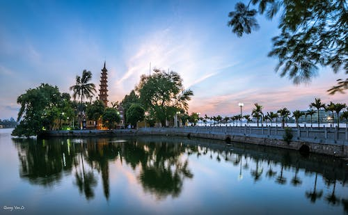 Free stock photo of Hanoi, landscape, pagoda, sunset