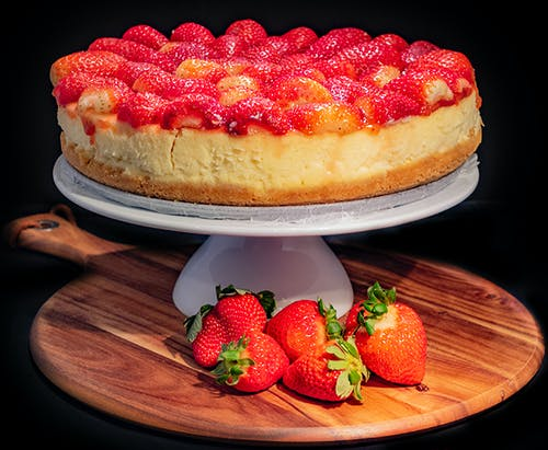 Free stock photo of cheesecake, food, strawberries