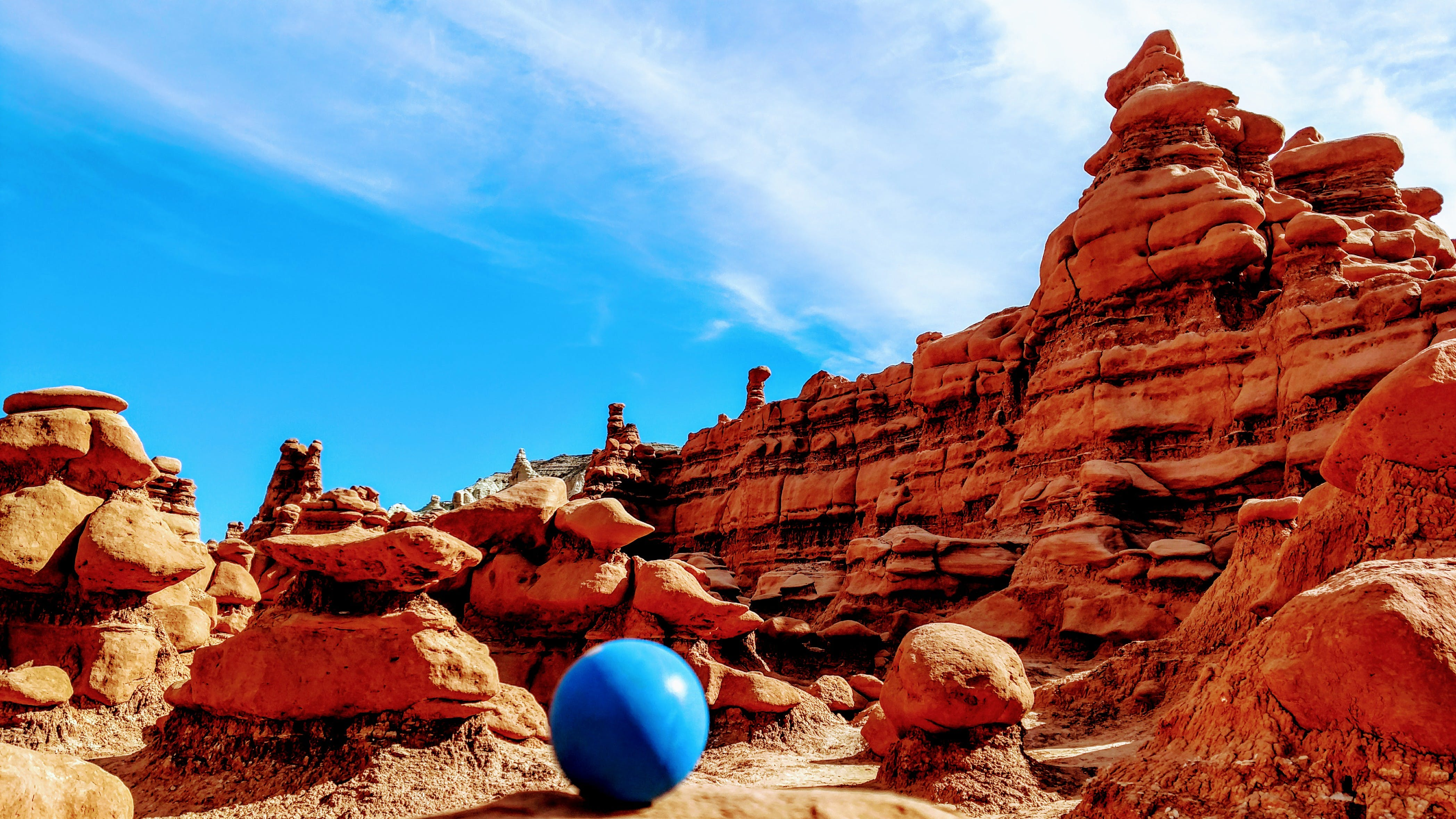 Blue Stability Ball at Rocky Mountains