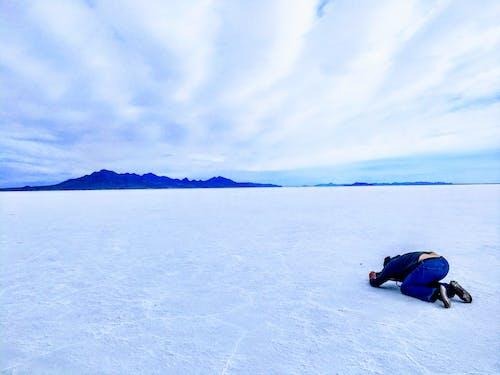 Gratis lagerfoto af bjerg, himmel, kunstner, salt