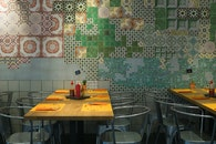 restaurant, tables, chairs