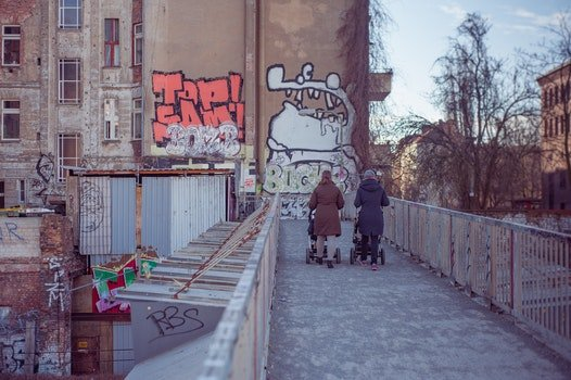 Free stock photo of city, people, street, graffiti