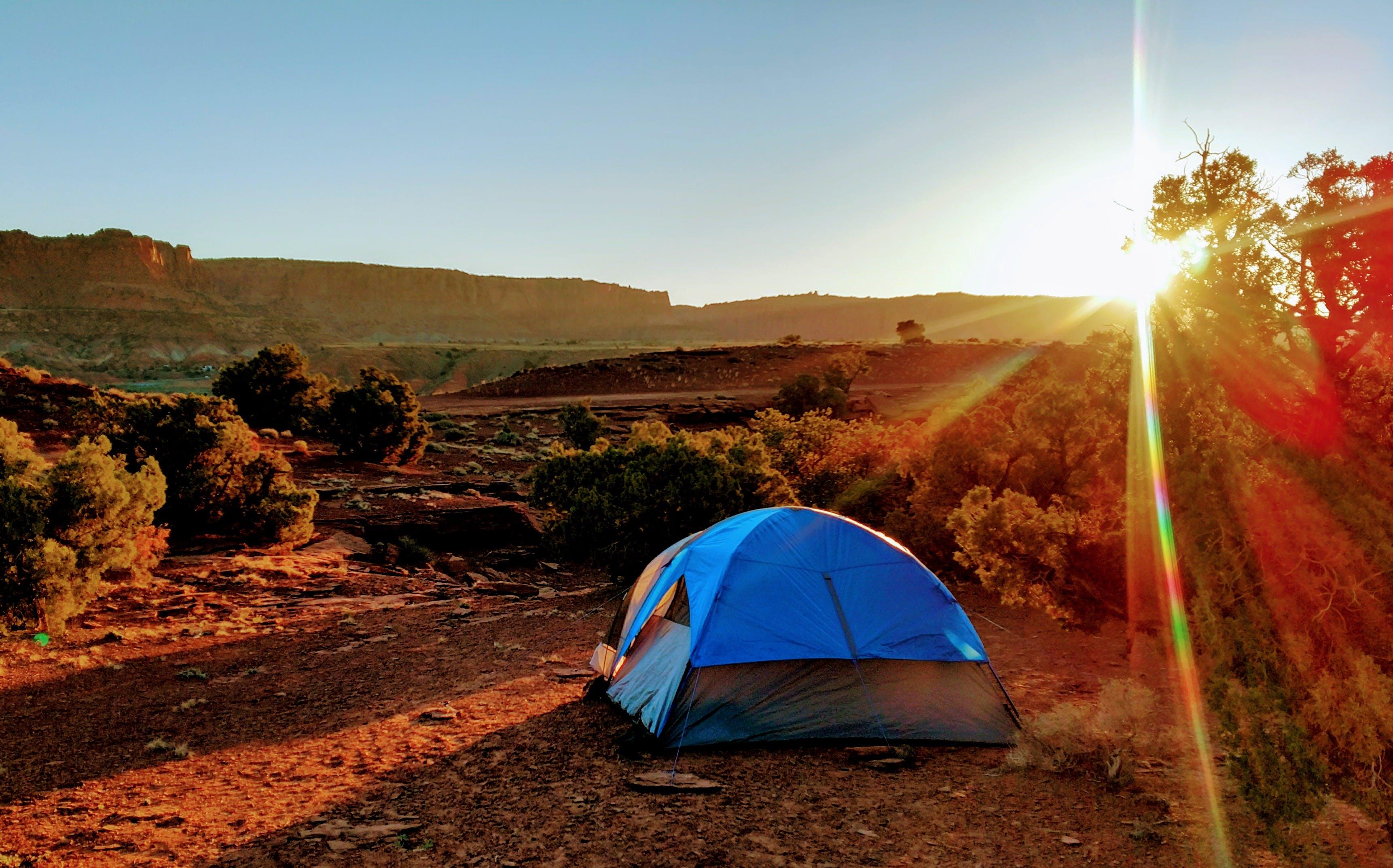 Free stock photo of beautiful, camping, rock, sunrise