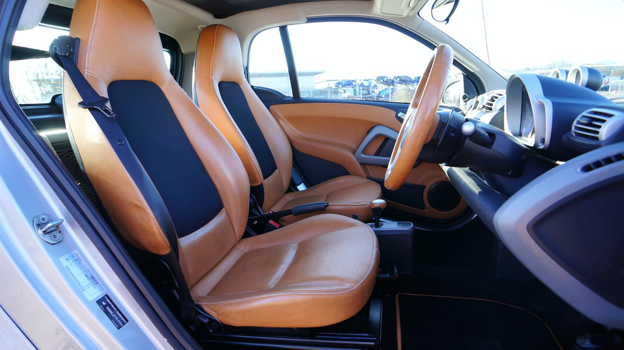 Free stock photo of car, interior, leather