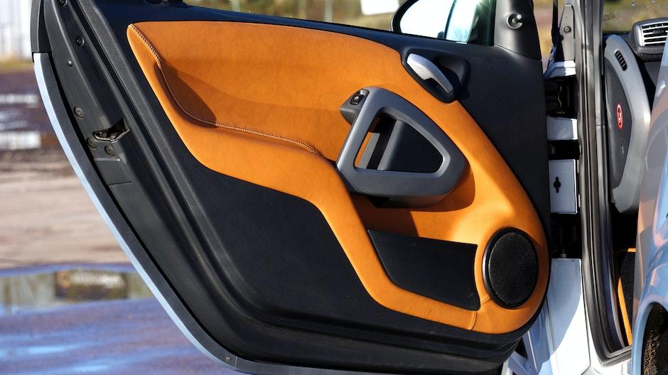 car, door, leather trim