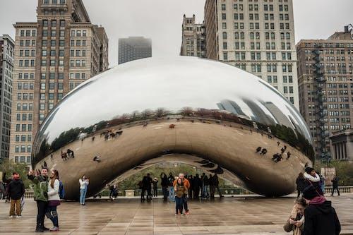 Foto profissional grátis de arquitetura, atração turística, centro da cidade, Chicago