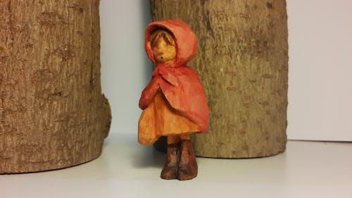 Immagine gratuita di burattino, cappuccio rosso, curvatura del legno, fatto a mano