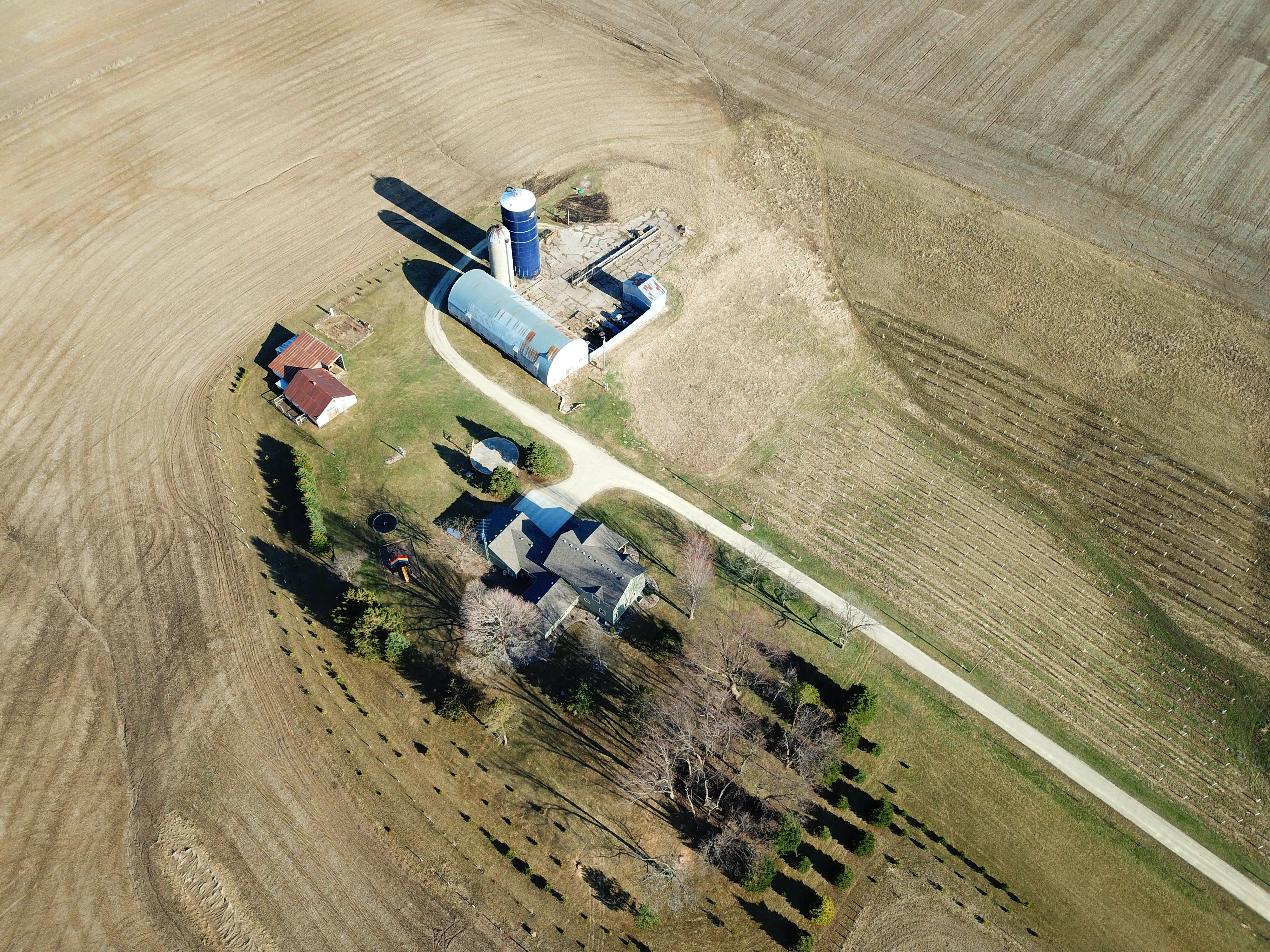 Free stock photo of barn, buildings, Country Home, drone