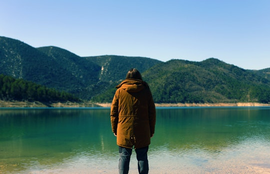 Free stock photo of mountains, nature, sky, person