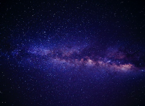 Blue Pink and White Andromeda Galaxy Way