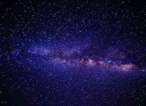 Azul Rosa y Blanco Andromeda Galaxy Way