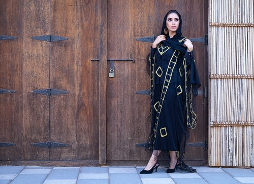 Women's Black and Brown Dress
