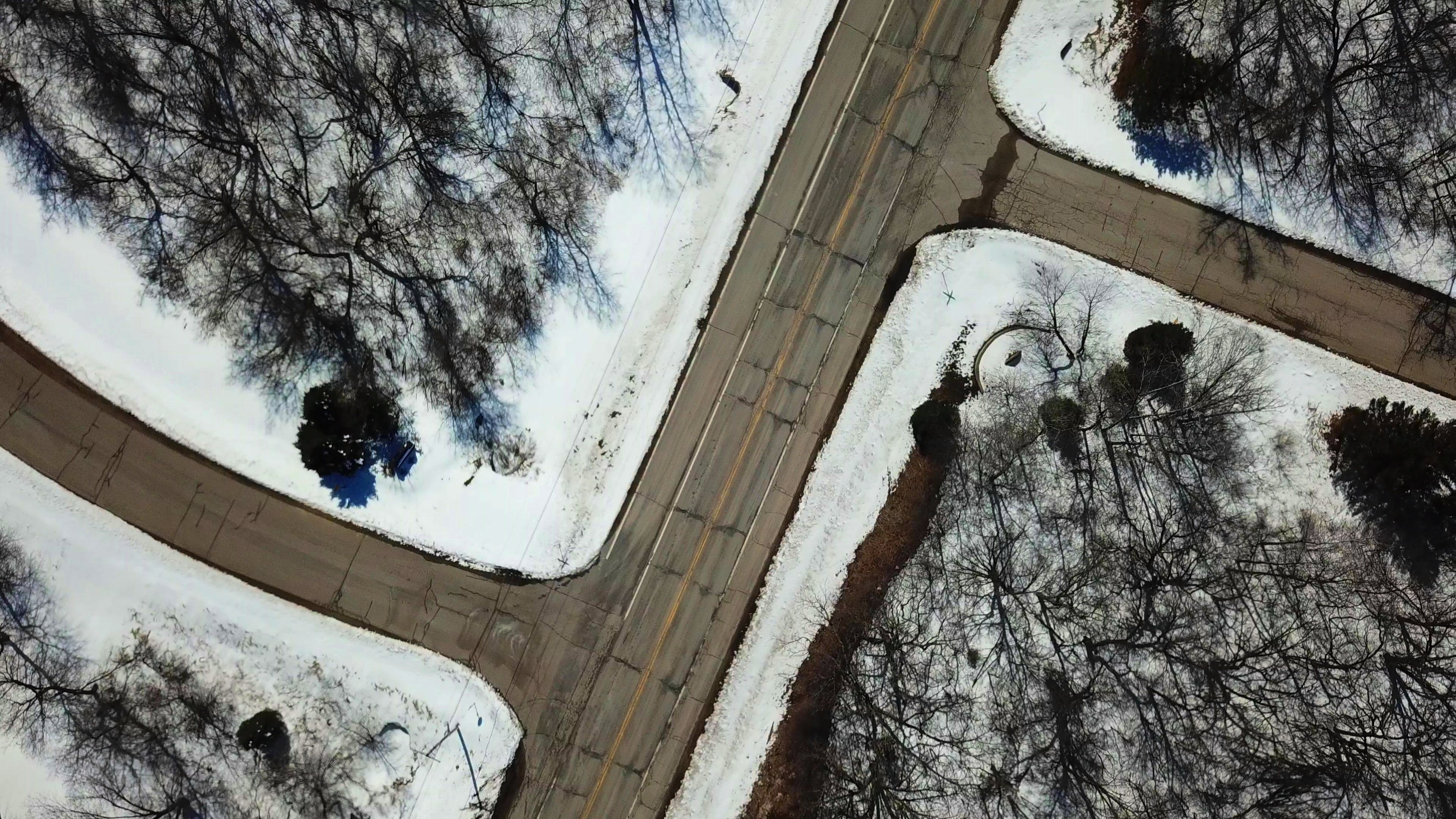 Free stock photo of crossroads, drone, drone cam, drone view
