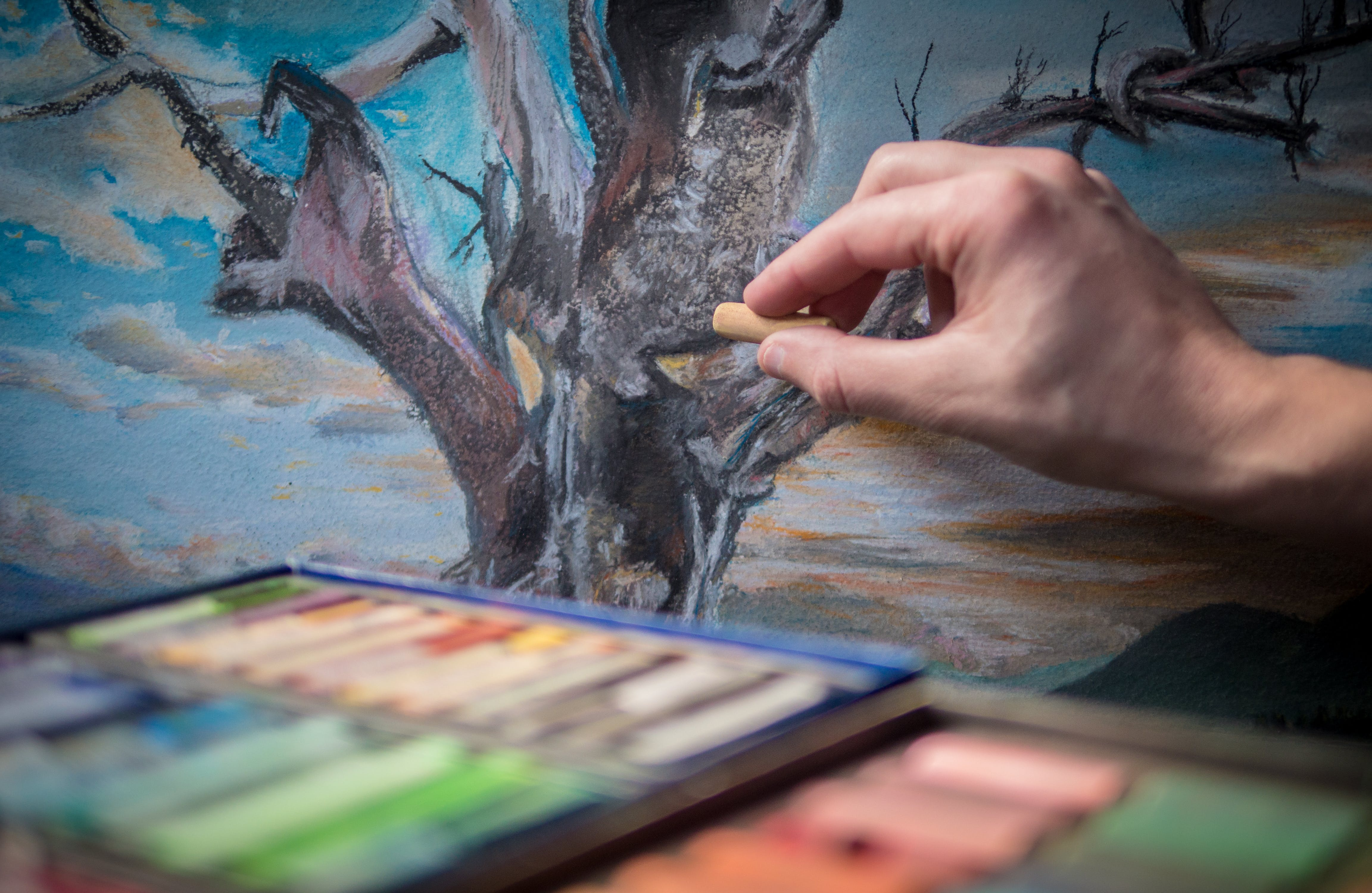 Free stock photo of hand, painting, color, drawing