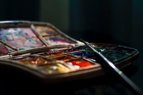 Darmowe zdjęcie z galerii z akwarela, kolor, makro, paleta