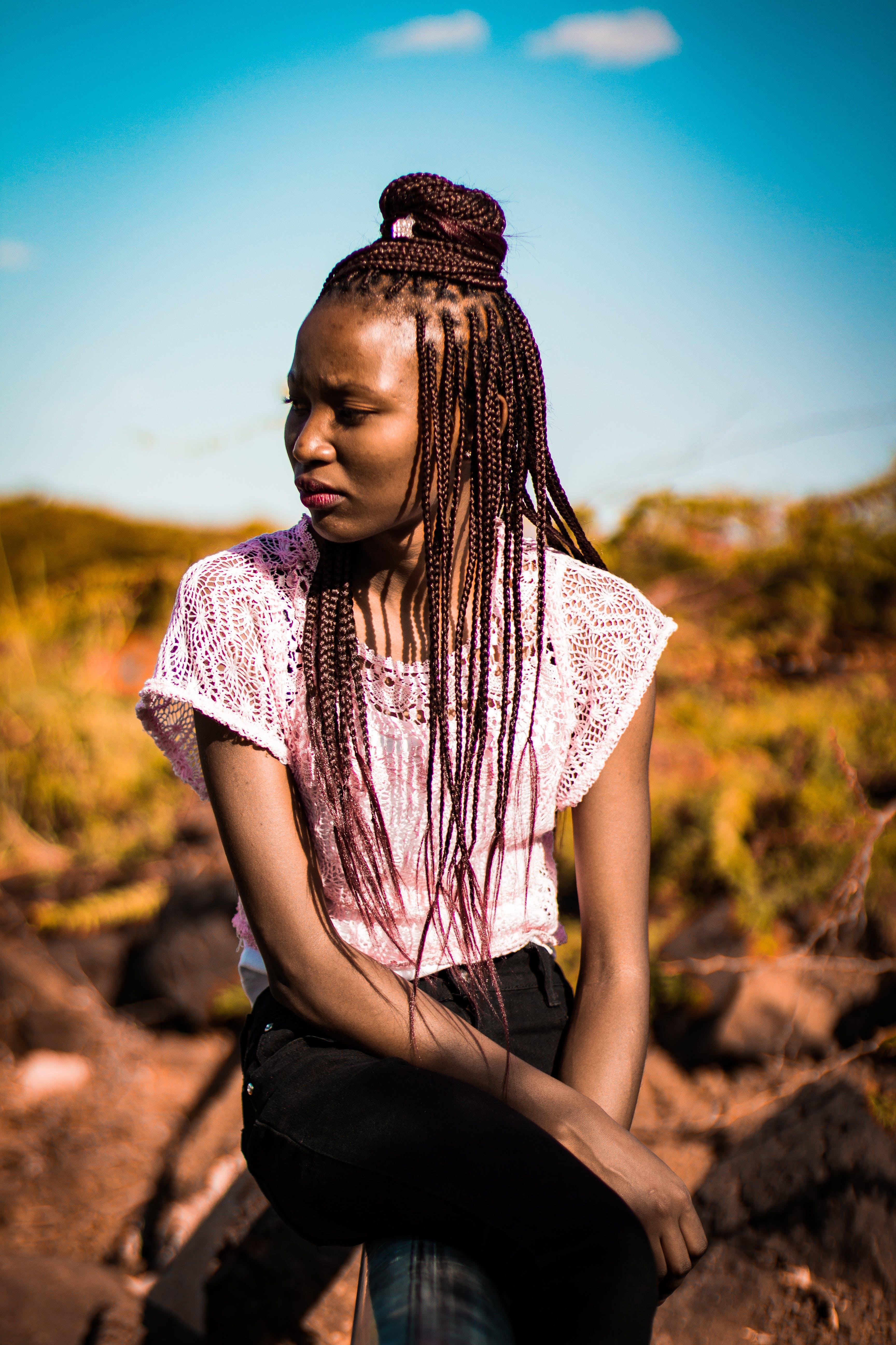 afrikansk, fotosession, kjole