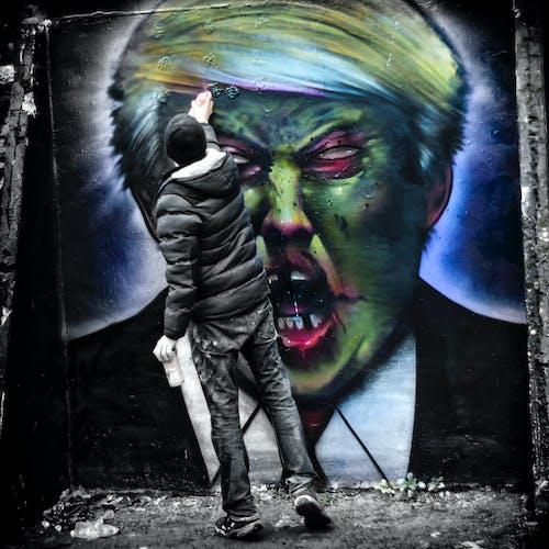 Free stock photo of Trump, zombie