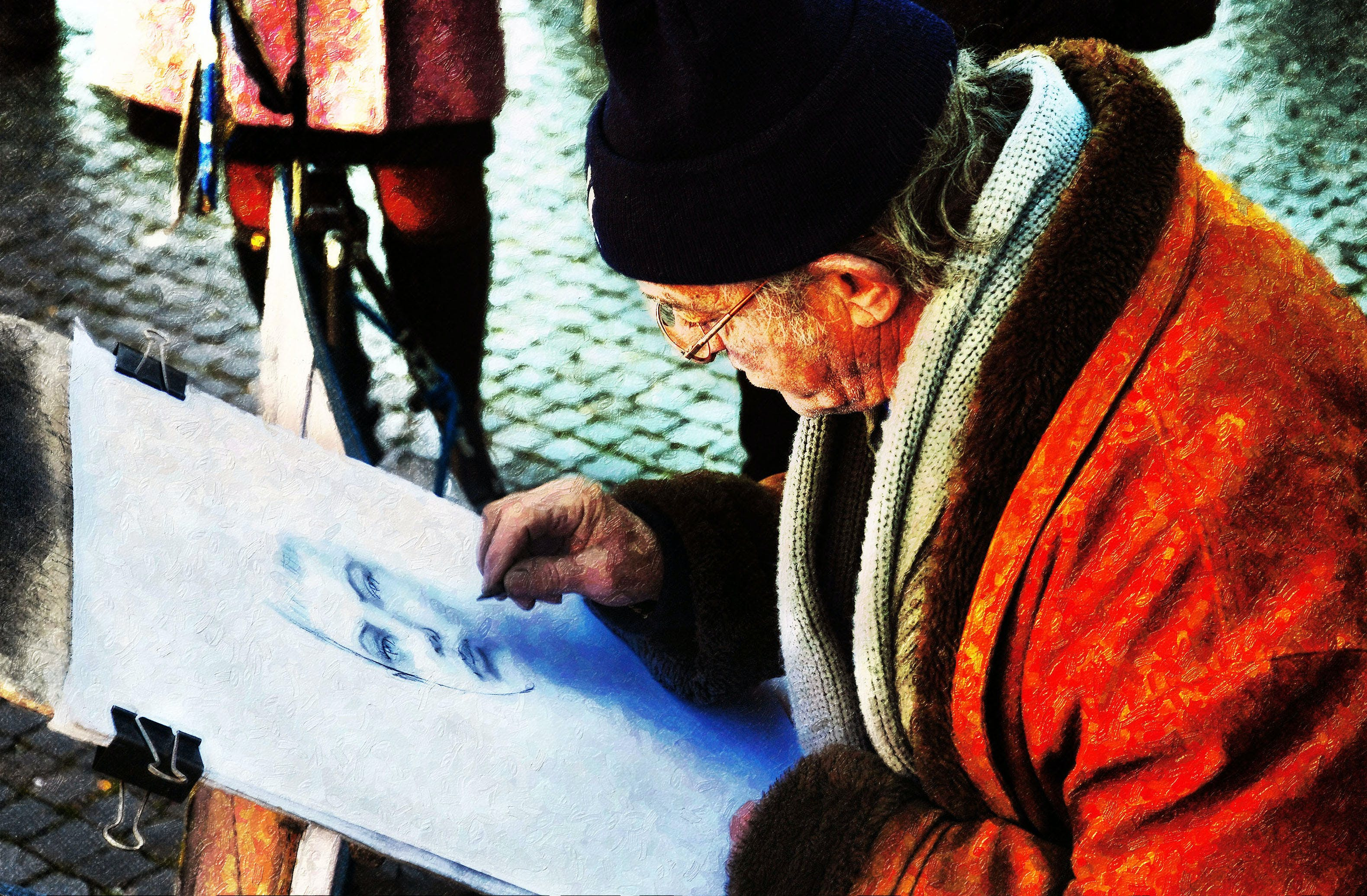 Free stock photo of street artist