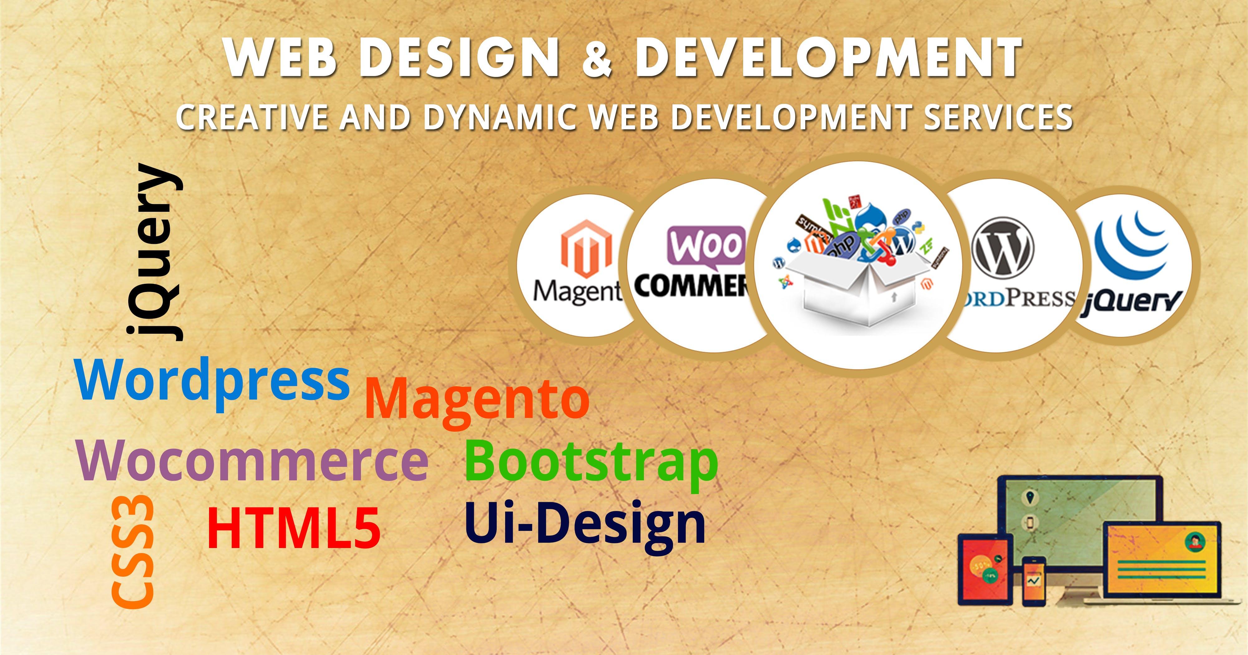 design, development, web design