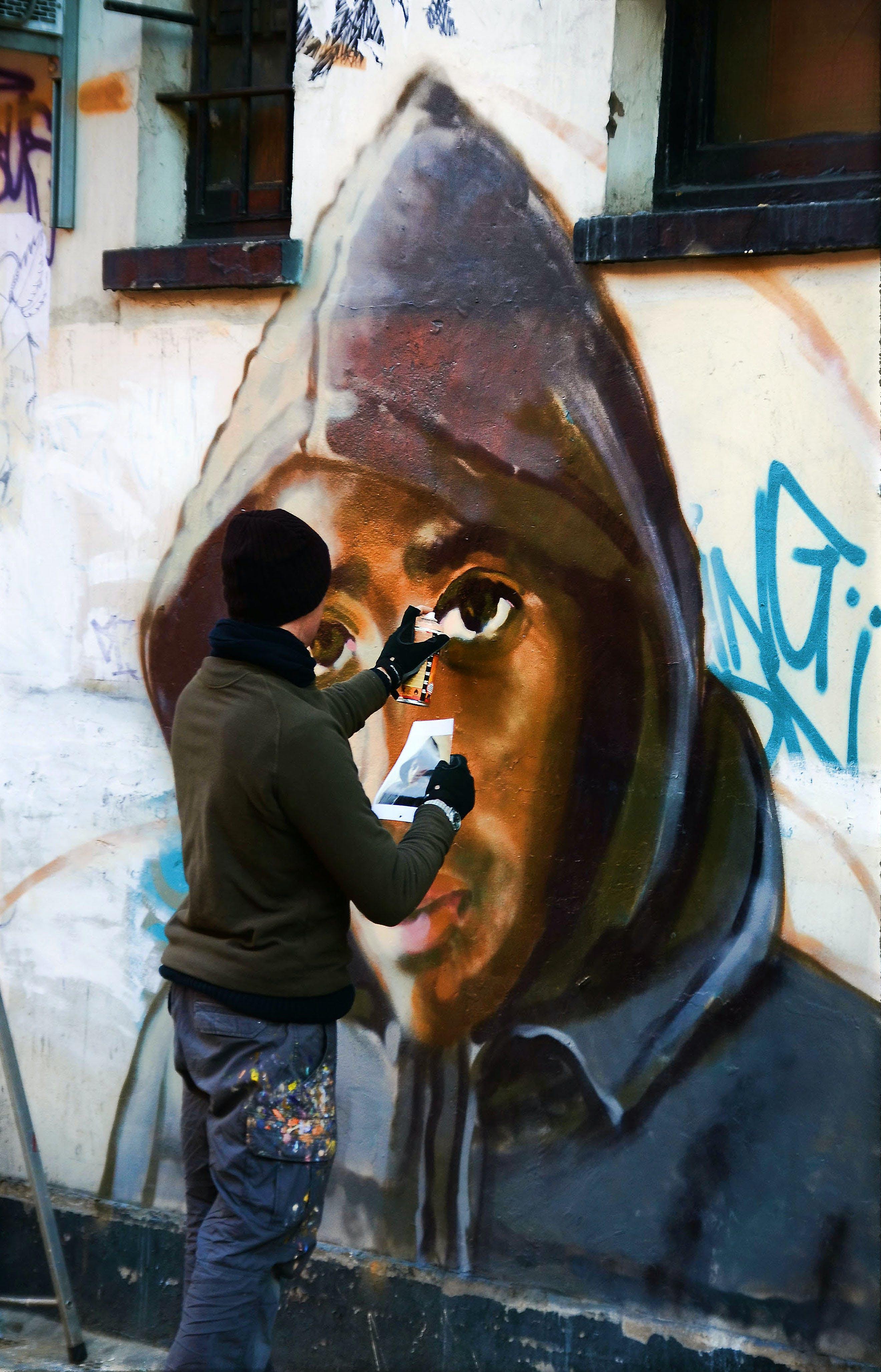 Δωρεάν στοκ φωτογραφιών με street art, καλλιτέχνης του δρόμου