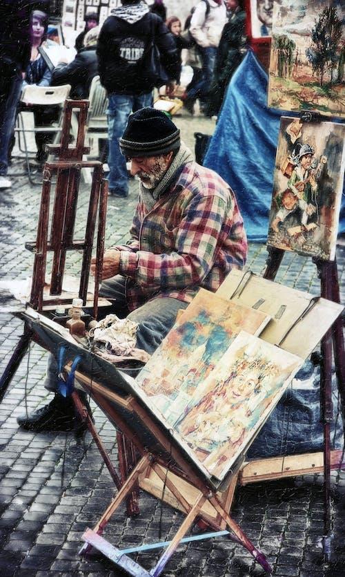 Free stock photo of street artist