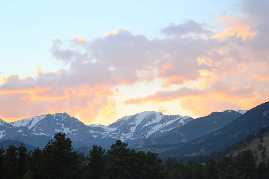 colorado, rocky mountain, sunset