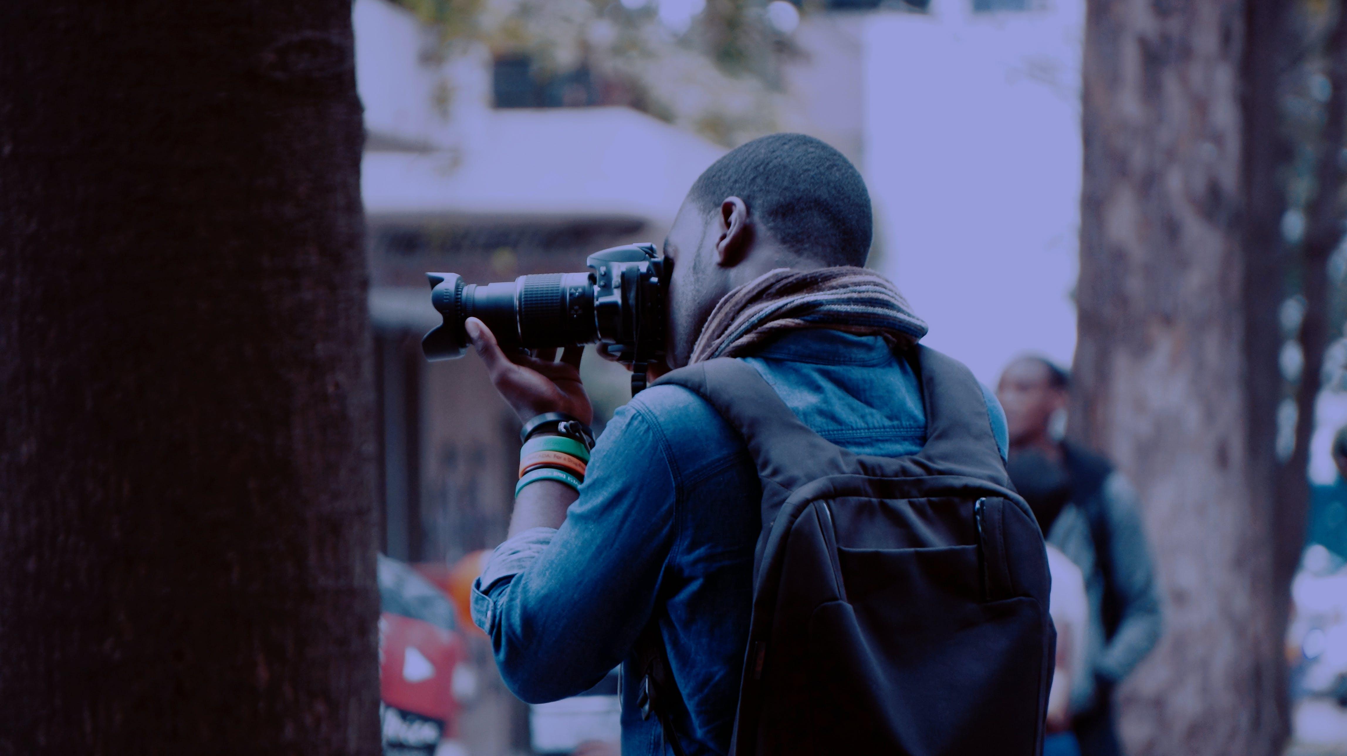 Free stock photo of camera, photographer, photography, black