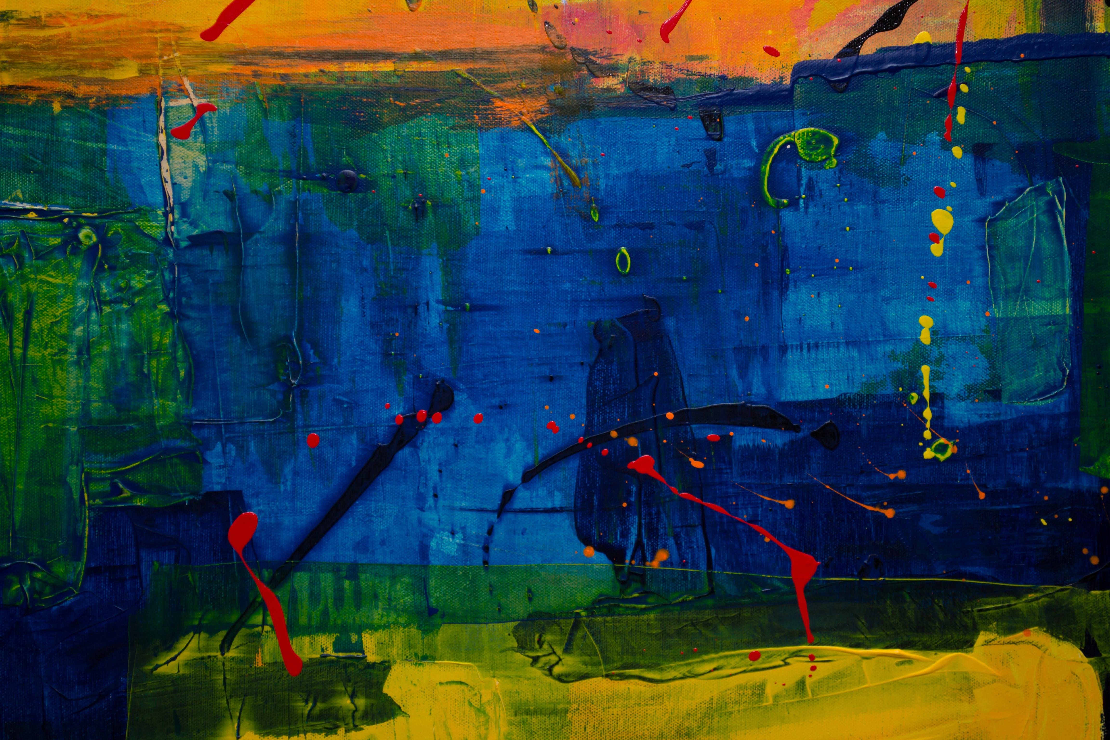 Ilmainen kuvapankkikuva tunnisteilla abstrakti maalaus, maalaus, taide, taiteellinen