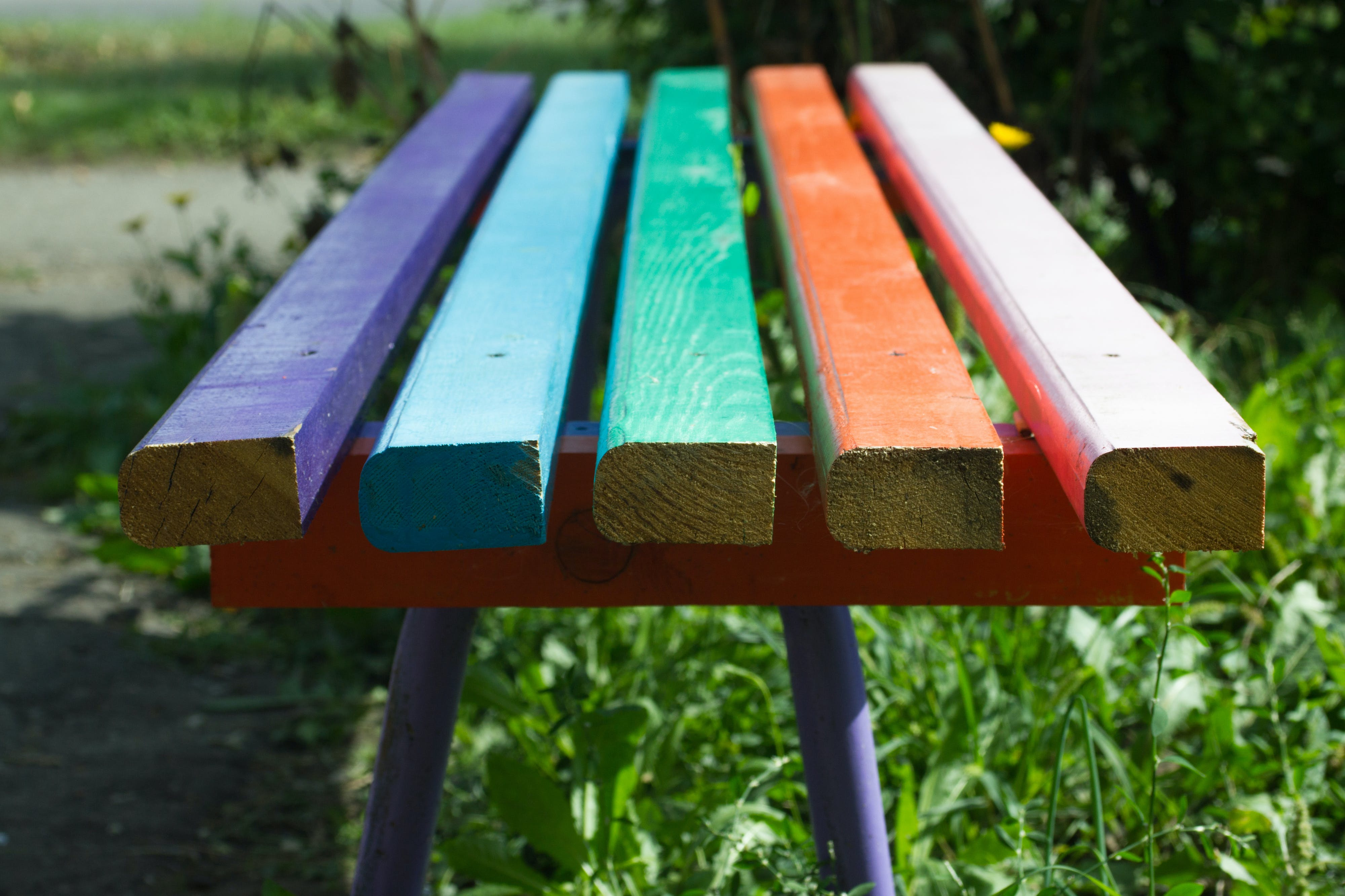 Free stock photo of bench, blue, close-up, color