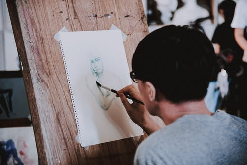 Person Making Some Human Sketch