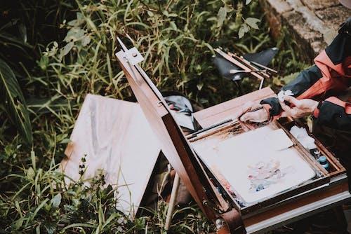 คลังภาพถ่ายฟรี ของ การทาสี, การวาดภาพ, งาน, ผ้าใบ