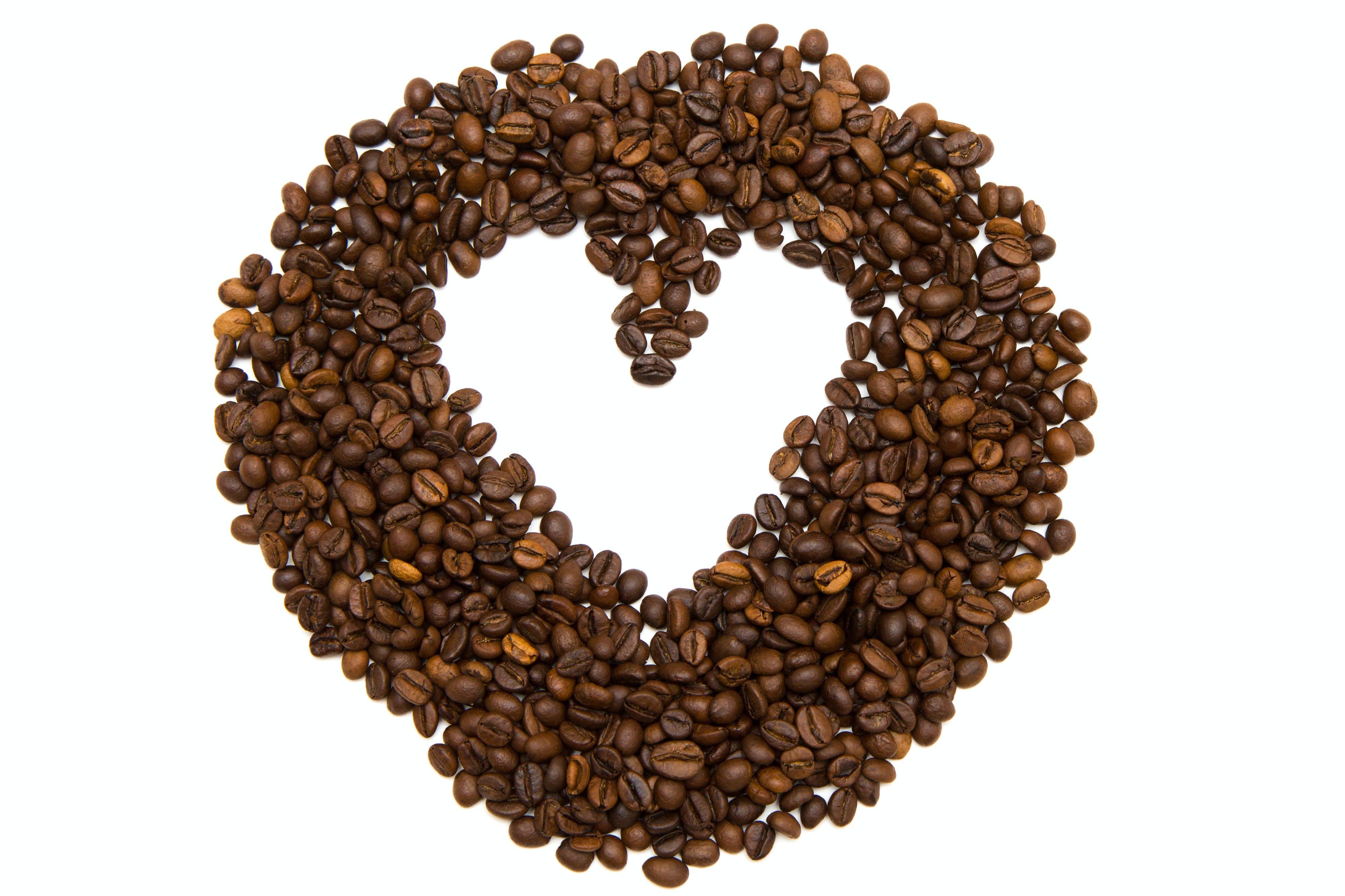 Coffee Bean Formed Heart