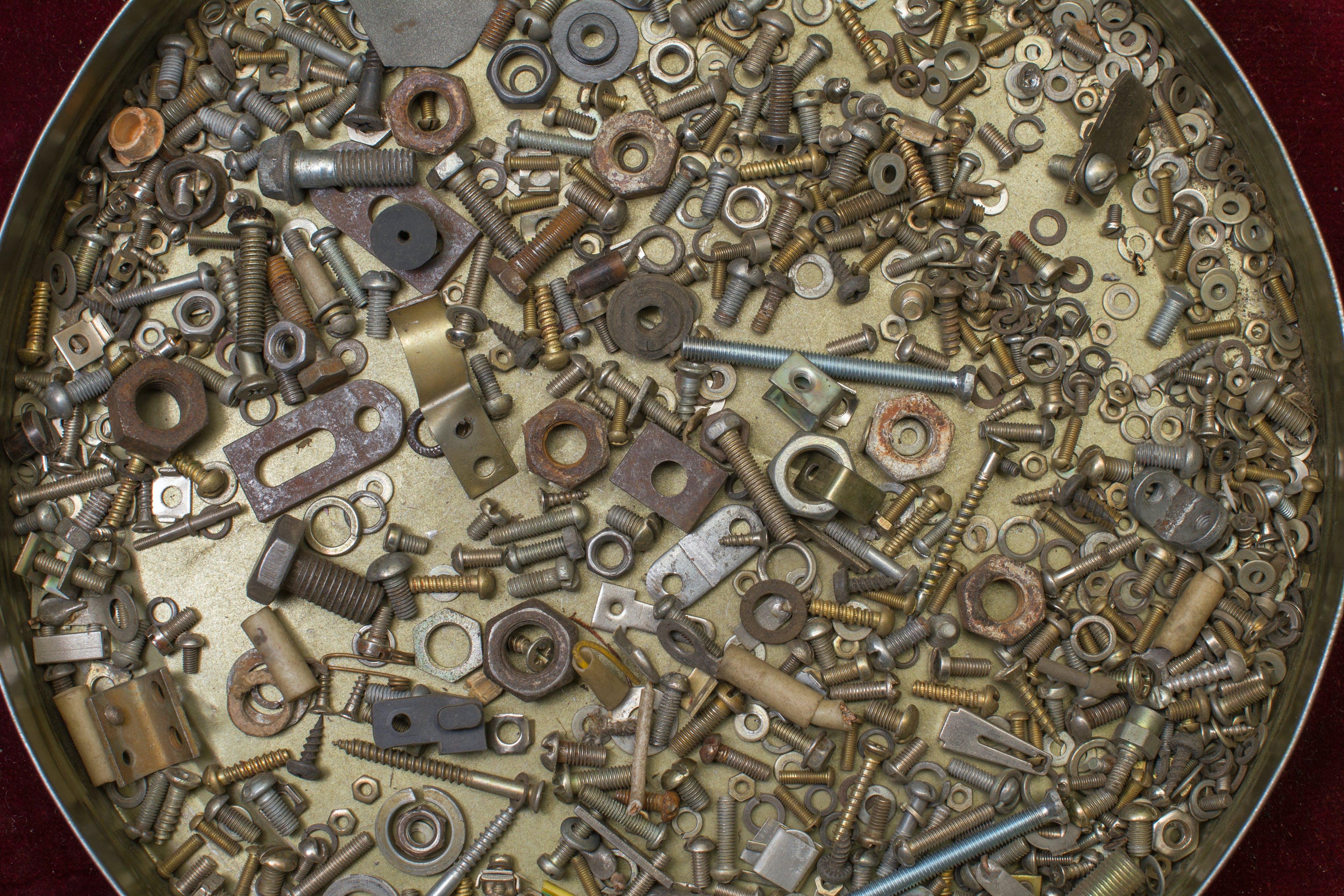 Free stock photo of background, bolt, chrome, closeup