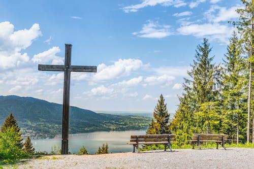 十字架, 日光, 景觀, 樹 的 免費圖庫相片