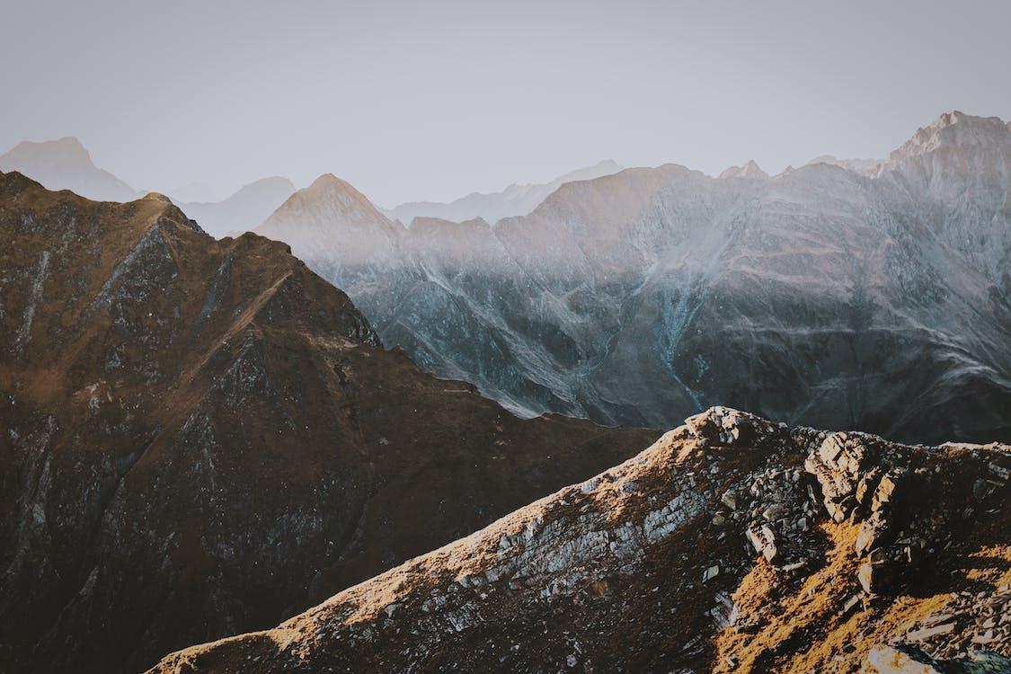 Alpes, con niebla, escénico